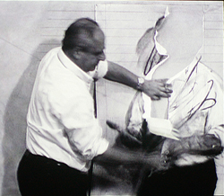 Kentridge desenhando